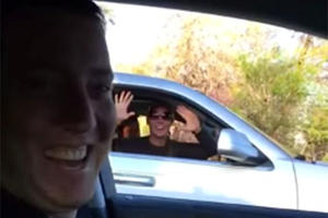 NASCAR Fan Freaks Out After Meeting Her Favorite Driver While Stuck In Traffic