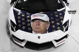 Will This Donald Trump Lamborghini Aventador Wrap Make The goldRush Rally Great Again?
