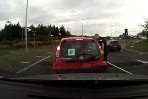 Try Not To Cringe As This Teenage Driver Stalls 13 Times Heading Into A Roundabout