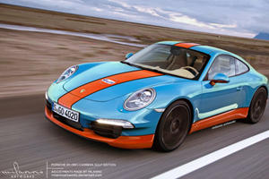 Rendered: 2012 Porsche 911 Complete with Gulf Livery