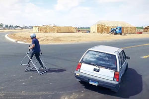 This Gymkhana Parody Proves You Don't Need A Fast Car To Do Tricks