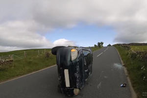 Listen To The Awesome One-Liner This Guy Drops After Flipping His Car