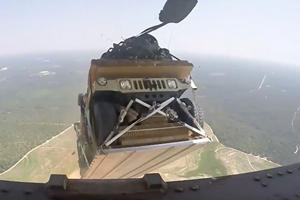 The Fast And Furious Air Drop Scene Has Nothing On These Humvees