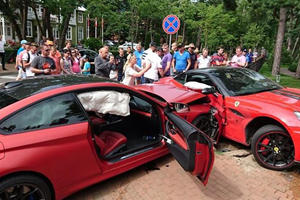 Of Course It Was A BMW M4 Driver Who Crashed Into A Ferrari California