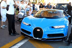 One Of The First Bugatti Chirons In The Wild Drew Huge Crowds In Cannes