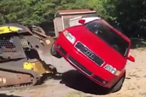 This Dad Destroyed His Son's Audi A4 To Teach His Daughter A Lesson