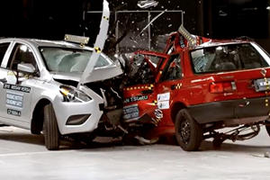 A Crash Test Of A Mexican Sentra And American Versa Is Nightmare Material