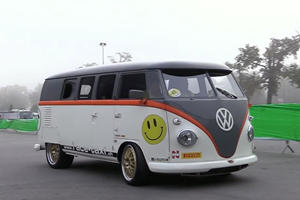 All It Takes Is A 911 Turbo S Engine For A VW Bus To Take Supercar Pink Slips
