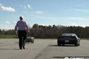 Jay Leno Got Colin Powell And Joe Biden Together For A Corvette Drag Race