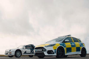 Police Drag Race: Ford Focus RS Vs. Ford RS200