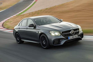 Even Digital Speedometers Can Hardly Keep Up With The 612-HP AMG E63 S