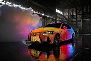 Lexus IS Transformed Into Incredible Art Car With Stunning LED Lights