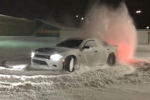 A Dodge Charger Hellcat Makes A Surprisingly Good Snow Plow