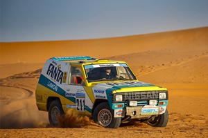 Nissan Restores Iconic 1987 Paris-Dakar Rally Car