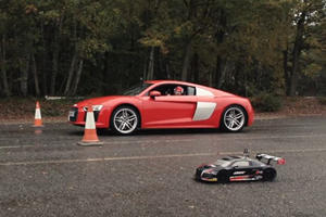 RC Audi R8 Vs. R8 V10 Is The Drag Race You Didn't Know You Needed