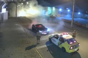 Brazilian Cops Bust Corvette Driver Seconds Into Sweet Donuts