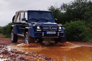 Watch The Mercedes-Maybach G650 Landaulet Getting Dirty In Africa