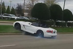 Watch A Dodge Viper Wipe Out At Cars And Coffee