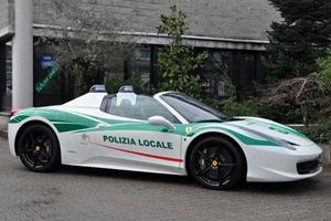Italian Police Transform Mafia's Ferrari 458 Spider Into Cop Car
