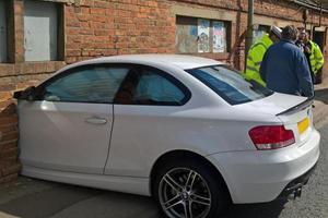 This BMW 1-Series Crash Looks Like Wall Art