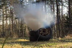 This Is What Happens When You Put Too Much Air In Your Tire