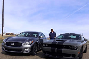 Why On Earth Race A Challenger Hellcat Against An Infiniti Q70L?