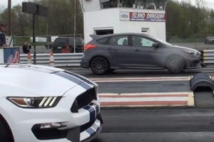 How The Hell Does A Stock Focus RS Nearly Beat A GT350 In A Drag Race?