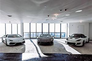 Supercar Elevator Gives Lamborghini Aventador A $40 Million View Of Miami