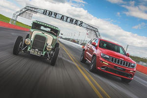 Jeep Grand Cherokee SRT Makes A Point Out Of A Hot Rod Hemi At The Drag Strip