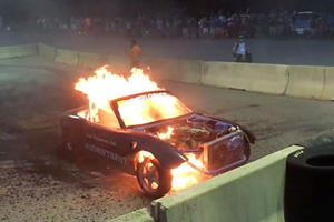 Mazda MX-5 Botches Burnout And Blasts Itself To Pieces