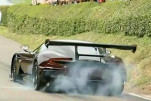 Watch A $2.3 Million Aston Martin Vulcan Pulverize Its Rear Tires For Fun