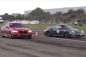 950-HP 9ff Porsche 911 Almost Wipes Out 760-HP BMW M5 In Drag Race