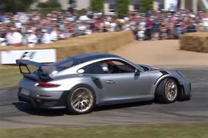 Watch This Porsche 911 GT2 RS Donut Fail From Goodwood