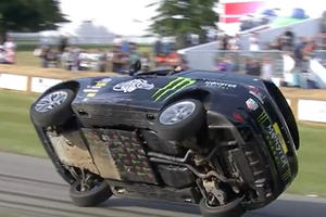 Stunt Master Terry Grant Only Needs Two Wheels To Drive Up Goodwood