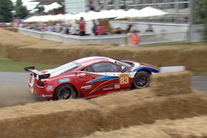 Ferrari 458 GT2 Has A Nasty Wipe Out During Goodwood FOS Hill Climb