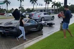 Cars And Coffee Descends Into Chaos As Bikers Attack McLaren 720S