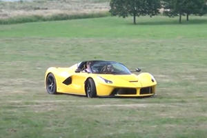 Crazy Ferrari Owner Takes LaFerrari Aperta Off-Road For Donuts And Drifts