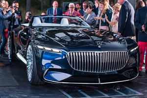 Mercedes Wows Pebble Beach With Stunning Maybach Cabriolet Concept