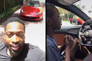 Dwayne Wade Gives Son First Driving Lesson In Ferrari GTC4 Lusso