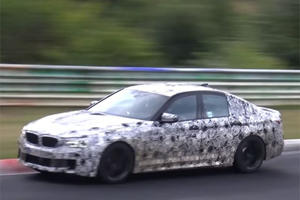 BMW M5 Test Driver Stops For A Whizz On The Nurburgring