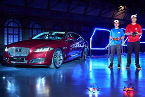 """Watch The Jaguar XJL Star In """"Game Of Drones"""" Airborne Race"""