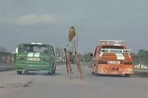 Romanian Drag Race Parody with Stupid Cars and Beautiful Girls