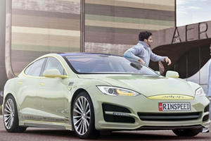 Rinspeed Unveils Tesla Model S-Based XchangE Autonomous Car