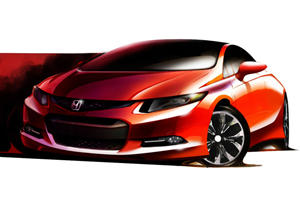 Honda Previews 2012 Civic for Detroit