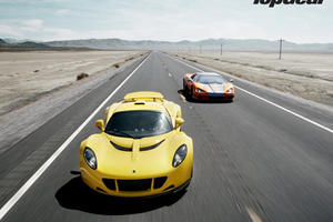 Top Gear Magazine takes Ultimate Aero and Venom GT for a Spin