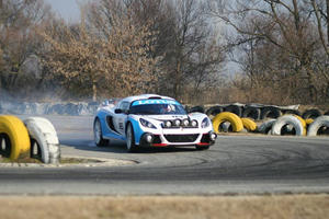 Lotus Exige R-GT Rally Car and IndyCar Engine Shakedowns