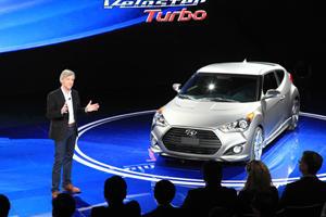 2013 Hyundai Veloster Turbo Rolls into Detroit