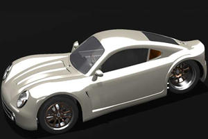 Mystery Solved: Three-Wheeled Porsche Lookalike is from Vanderhall