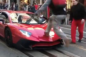 Man Jumps On Lamborghini Aventador SV, Owner Serves Fist To His Face