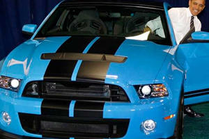 Obama Loves Him Some Mustang Shelby GT500 V8 Muscle